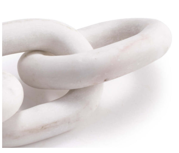 Sculpture - Atlas Marble Chain, White