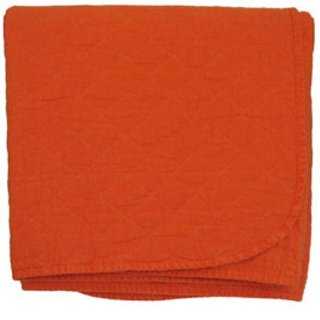 Burnt Orange Quilted Throw