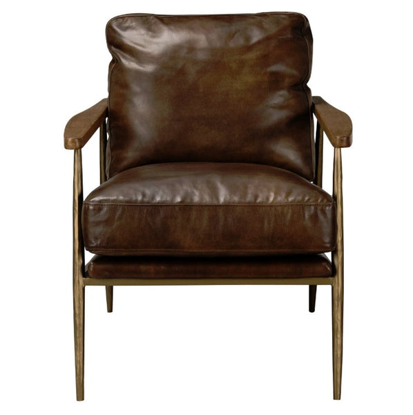 Leather, Christopher Club Chair - Brown