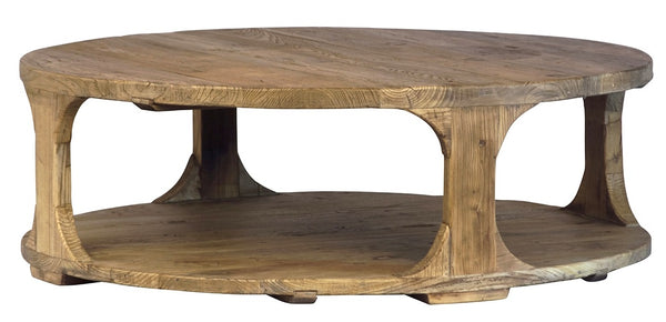 Emil Round Coffee Table, Reclaimed Elm 48""