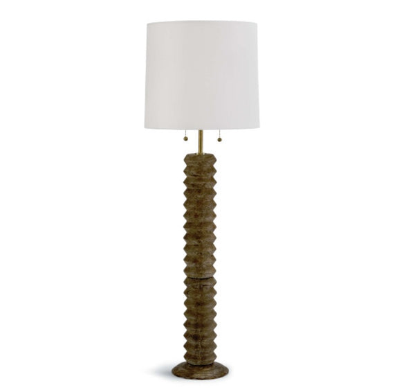 "Accordion Floor Lamp - Natural 63.5""H"
