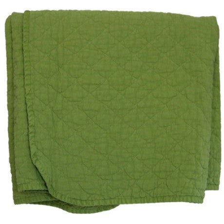 Green Leaf Quilted Throw