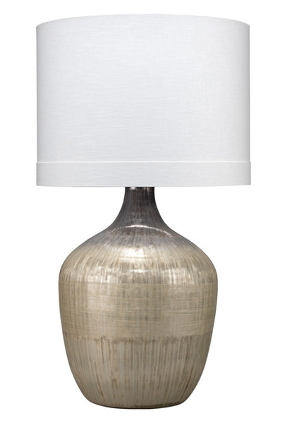 "Damsel Table Lamp, Mercury Glass 35""H"