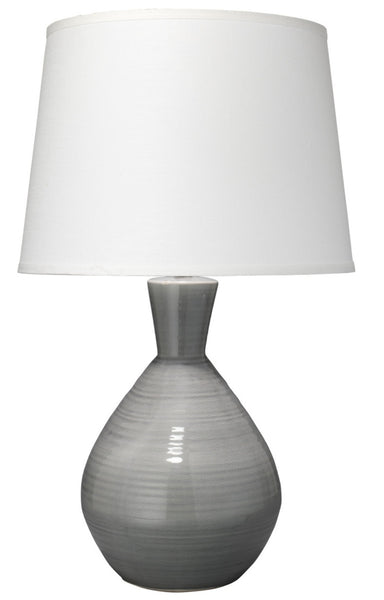 "Ash Table Lamp, Grey 31""H"