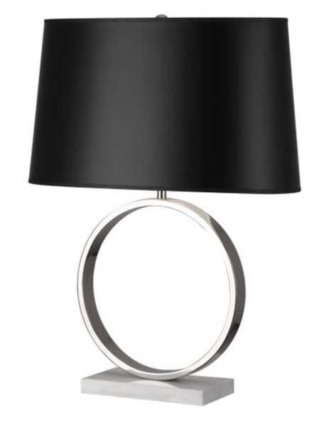 Logan Table Lamp, Nickel / Black