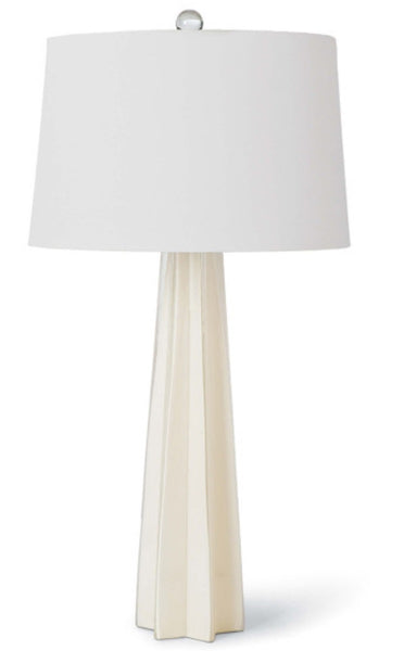 "Glass Star - Table Lamp, White 32.5""H"