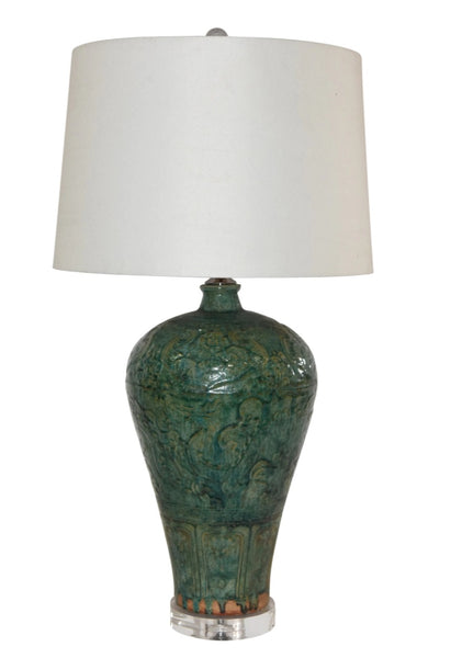 Speckled Green - Dragon Table Lamp