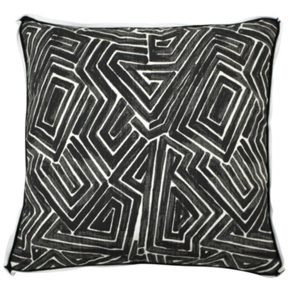 Maze Pillow, Black