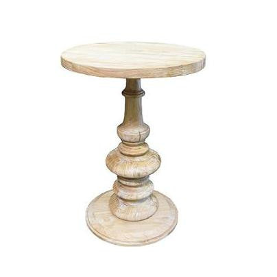 Old Elm Pedestal Table