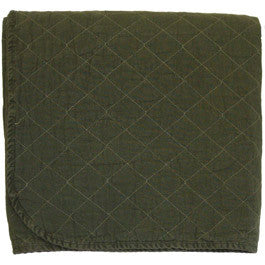 Olive Quilted Throw