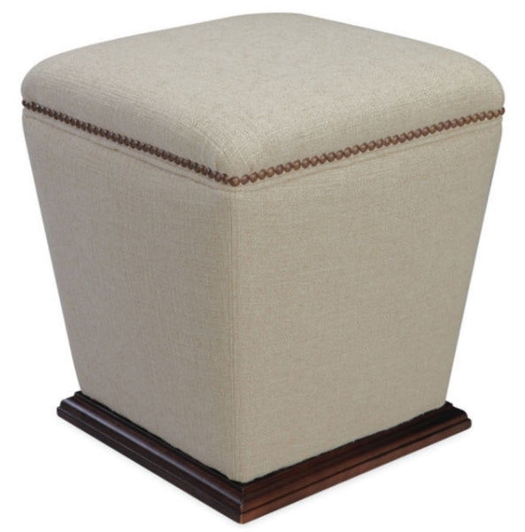 9308 - 00 Bongo Stool Ottoman - Wood base 16""