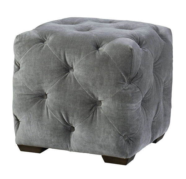 "Barkley 19"" Tufted Ottoman / Stool  - Only Grey Velvet"