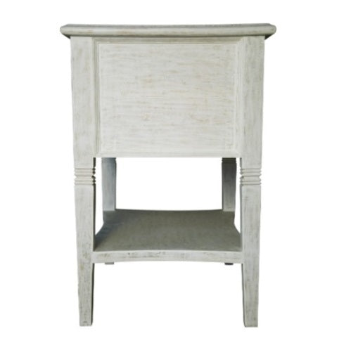Oxford 2-Drawer side table, White