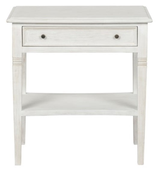 Oxford 1-Drawer Side Table, White