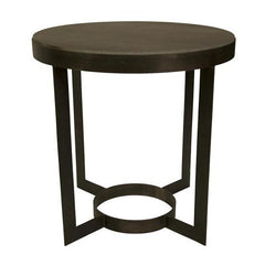 Parker Side Table  Metal w/ Stone Top