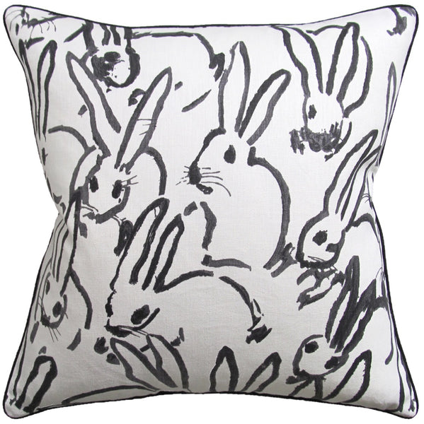Hutch Pillow, Black Bunny