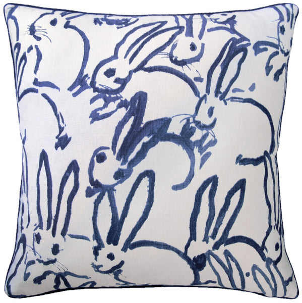 Hutch Pillow, Navy Bunny