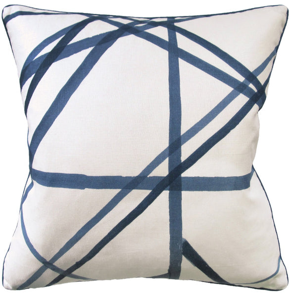 Channels Pillow, Periwinkle