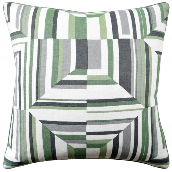 Cubism Pillow, Green