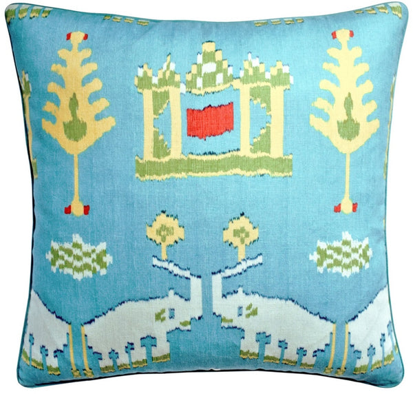 Kingdom Parade Pillow - Turquoise