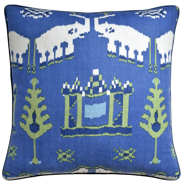 Kingdom Parade Pillow - Blue & Green