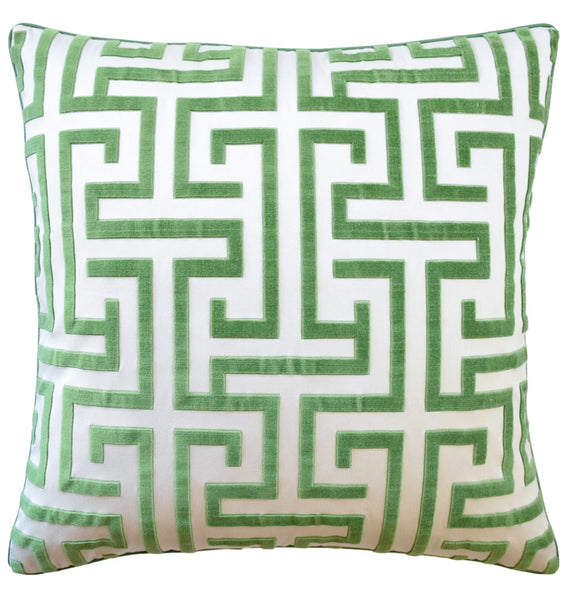 Ming Trail Pillow, Green
