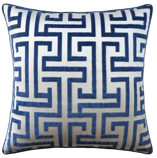 Ming Trail Pillow, Navy