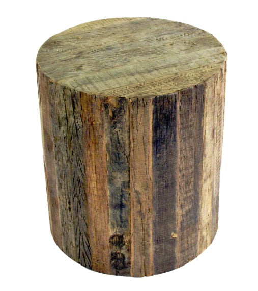 "Reclamation 16"" Rolling Stool on Casters"