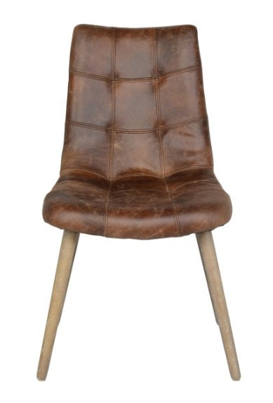 Roosevelt Dining Chair, Leather
