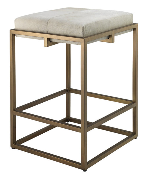 Dining - Shelby Hide/Brass -  Counter Stool