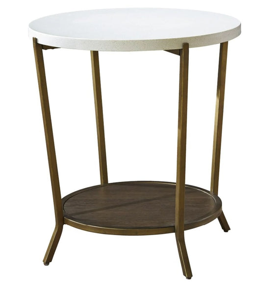 "Playlist 25"" Round End Table"