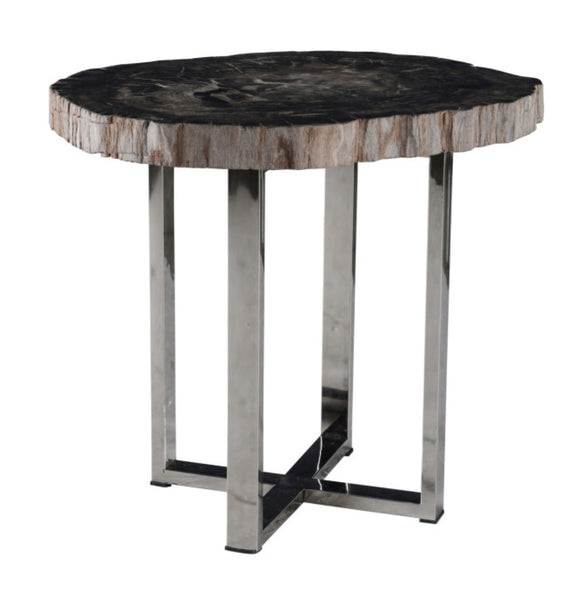 Petrified Wood - Damien Table, Approx 24""