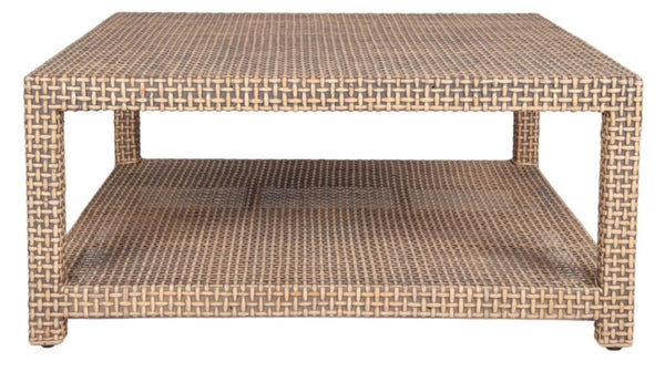 Lewis Rattan Coffee Table, Square 40""