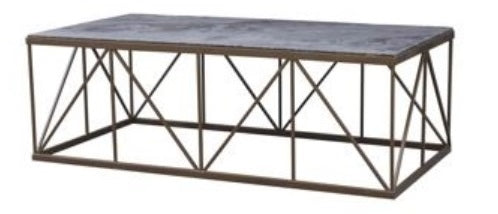 Transversal Coffee Table, Bluestone 46""