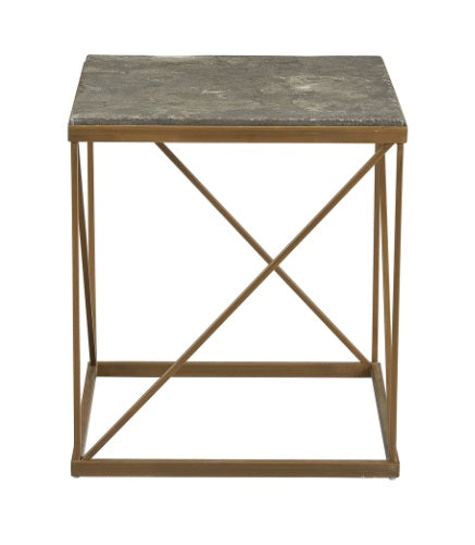 Transversal End Table, Bluestone 20""
