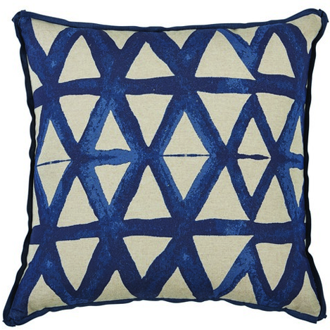 Triangle Pillow, Indigo