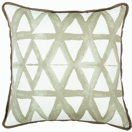Triangle Pillow, Taupe