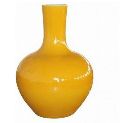 Globular Vase, Yellow