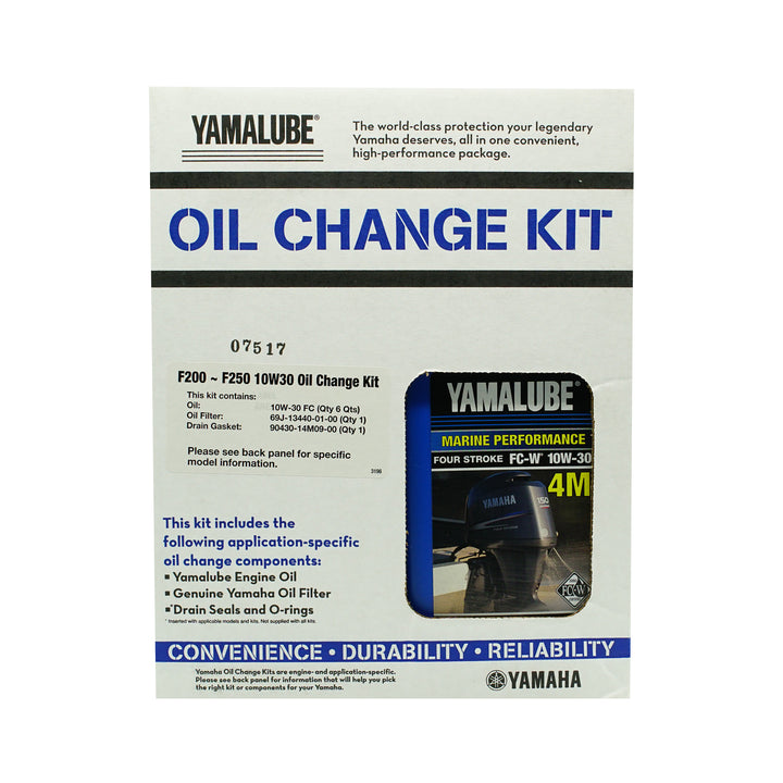 Yamalube Outboard F200-F250 20w40 Oil Change Kit