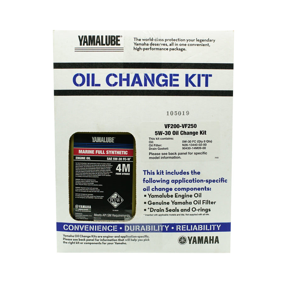 Yamalube Outboard VF250, VF225, VF200 Oil Change Kit