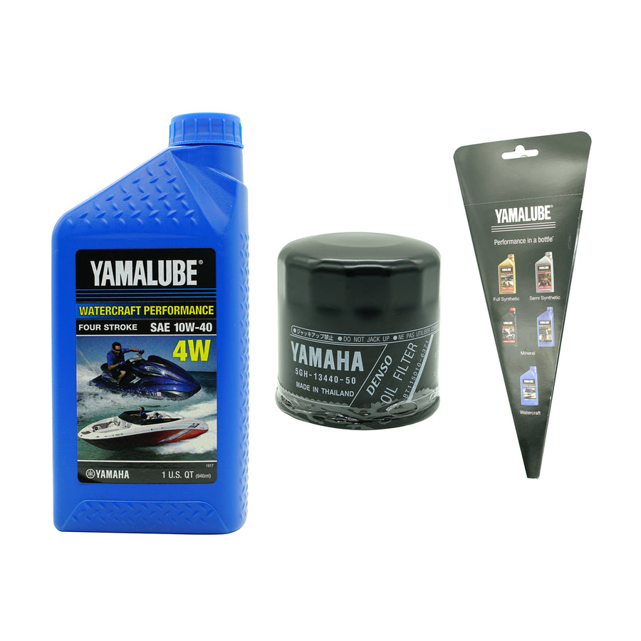 Yamalube Watercraft Oil SAE 10W-40 Change Kit