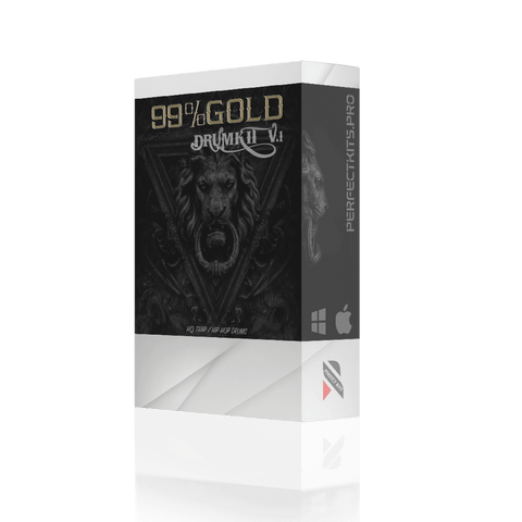 99% Gold Drum Kit - 260 Drum One-Shots