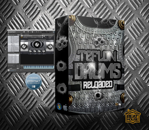 Teflon Drums Reloaded (Kontakt Library) - 100+ Premium Drum Sounds