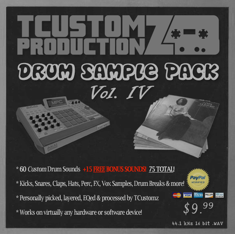 Drum Sample Pack Vol.4 - Hip Hop Drum Kit