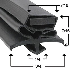 True TSSU-60-16 Compatible Door Gasket