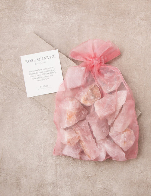 Sivana Rose Quartz Crystal Healing Bath Stones