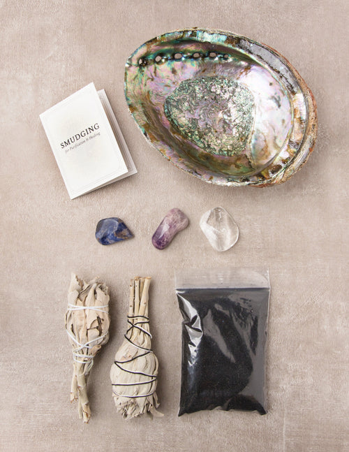 Crystal Cleansing Smudge Set