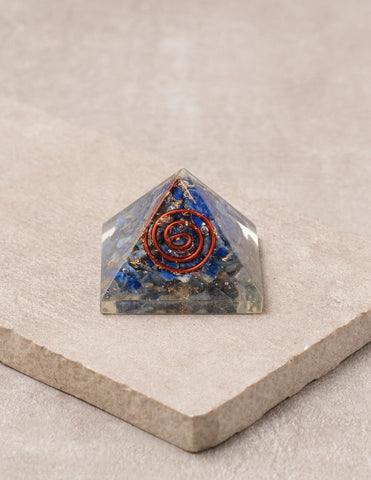 Lapis Orgone Mini Pyramid