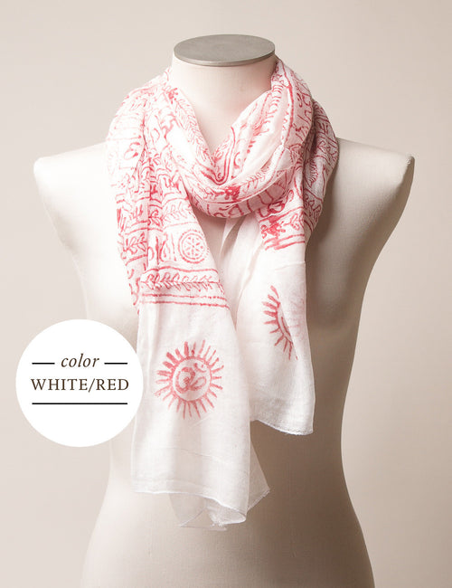 Deity Mantra Scarf 10+ Colors