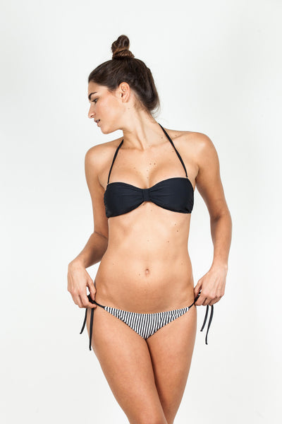 Butterfly Bandeau - Black Ribbed